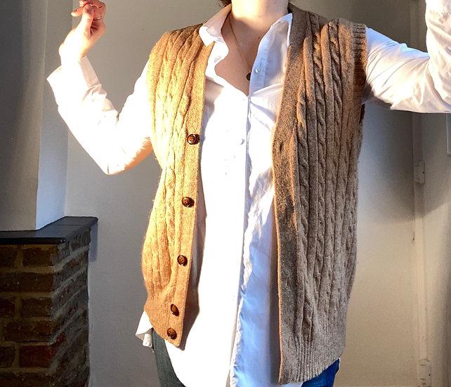 SADDLES 100% Wool Vest