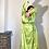 Thumbnail: KITRI Lime Silk Wrap Midi Dress