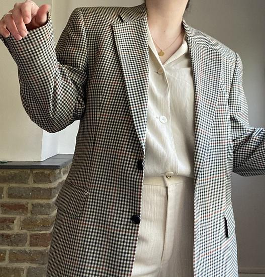 MR HARRY 70s Mens Cheque Blazer
