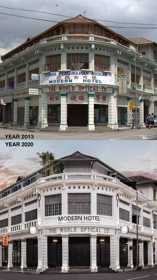 Modern Hotel (2013 vs 2020)