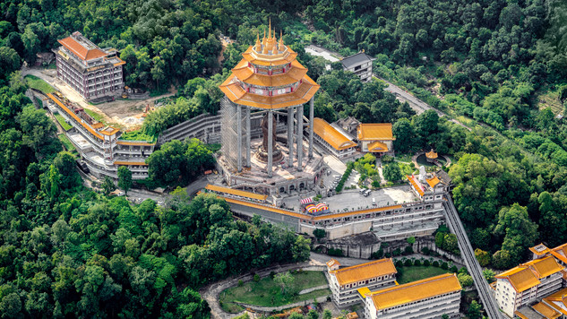View of Kek Lok Si from Helicopter
