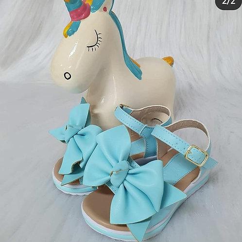 Sandália laço azul