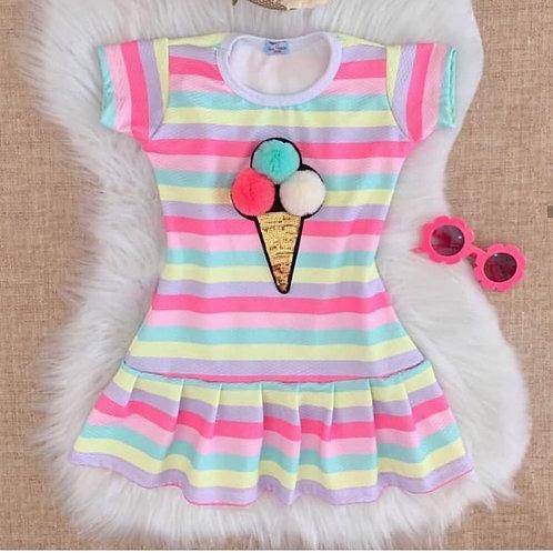 Vestido sorvete collor