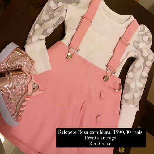 Salopete Rosa + blusa