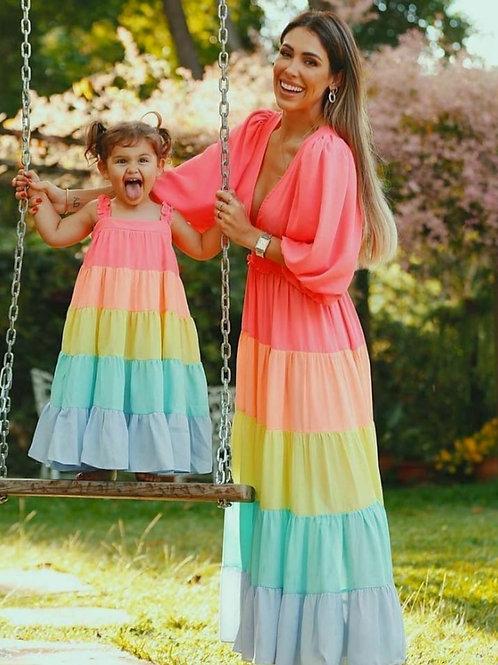 Vestido Collor mãe e filha