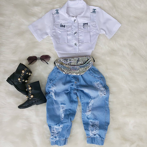 Calça jeans + camisa