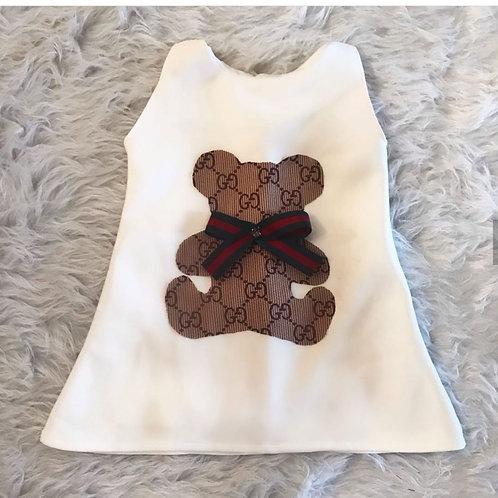 Vestido urso gucci