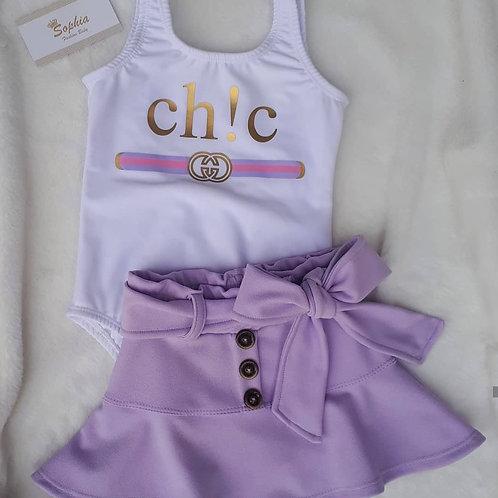 Conjunto chic lilas