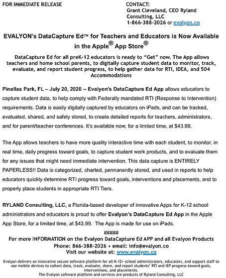 DataCapture_Ed™_Initial_Press_Release.