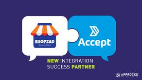 Shopzad & We Accept integration   Approcks Q4