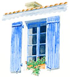 fenêtre charente maritime aquarelle Mary Falière