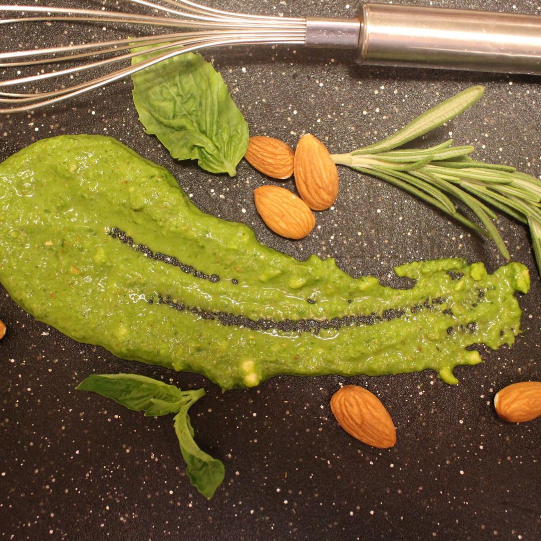 Almond, Rosemary, & Basil  Pesto