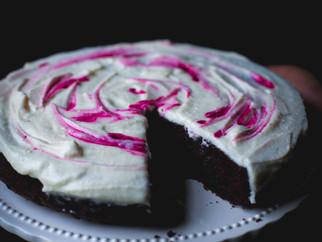 Gâteau au chocolat/betterave et ricotta