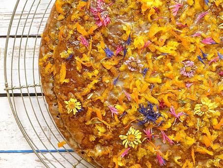 Gâteau au protimarron, cannelle et glaçage au agrumes