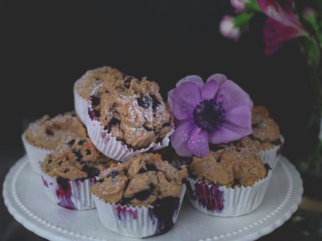 Muffins aux myrtilles healthy et vegan!