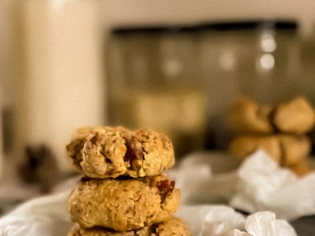 Cookies amandes, chocolat au caramel