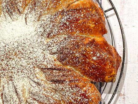 Brioche étoilée à la pâte à tartiner au chocolat (sans lait, ni beurre)