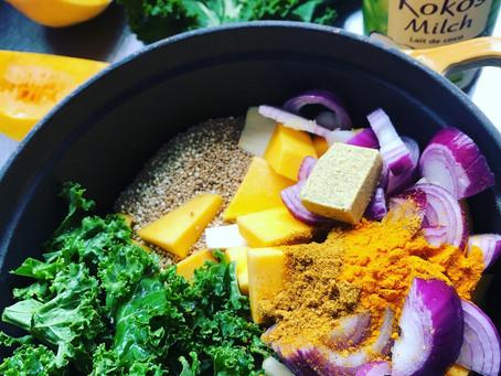 Curry de quinoa aux légumes d'automne