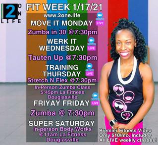 Weekly Schedule 1/17/21
