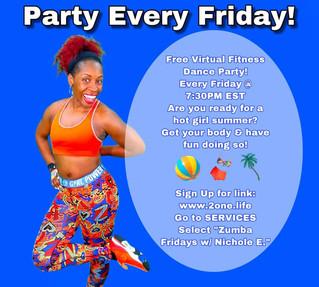 Zumba Fridays w/ Nichole E. 6/11