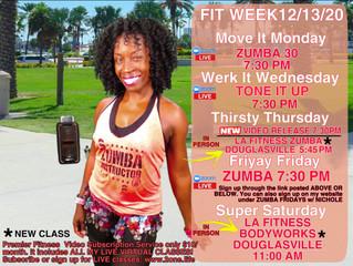 Weekly Schedule 12/13