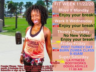 Weekly Schedule 11/22