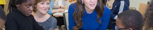 Duchess meeting bereaved children's group in East London
