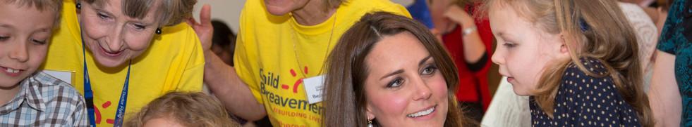 Duchess meeting bereaved chidlren's grou