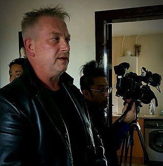 Jimmy Devlin The Ghost Finder General  Filming for Japanese TV