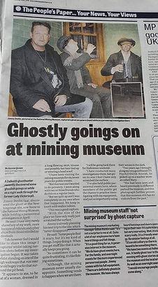 Jimmy Devlin The Ghost Finder General The National Mining Museum Scotland Edinburgh