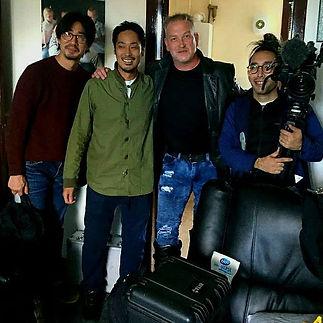 Jimmy Devlin The Ghost Finder General Filming Japanese Production in Edinburgh