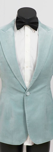 Baby blue velvet tuxedo
