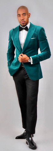Green velvet Tuxedo