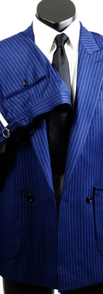 Blue pinstripe double breated