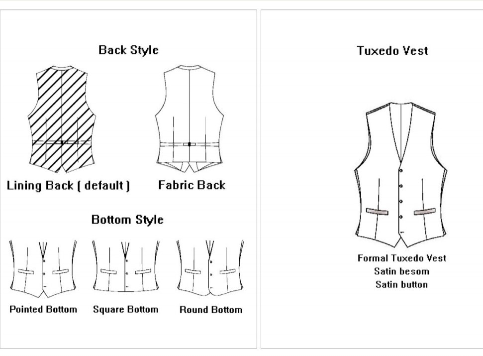 Back Vest & Tux Vest