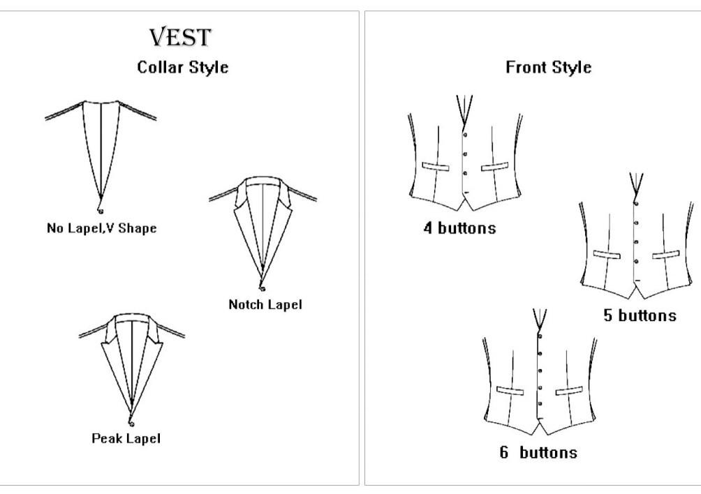 Front Vest Styles