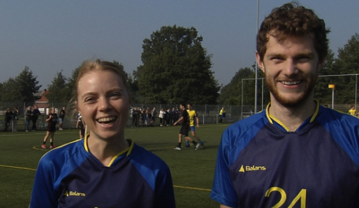 Amber Engels en Arne Beeck van korfbalclub Putse zijn kersvers international