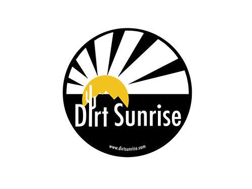 Round Dirt Sunrise Logo Sticker