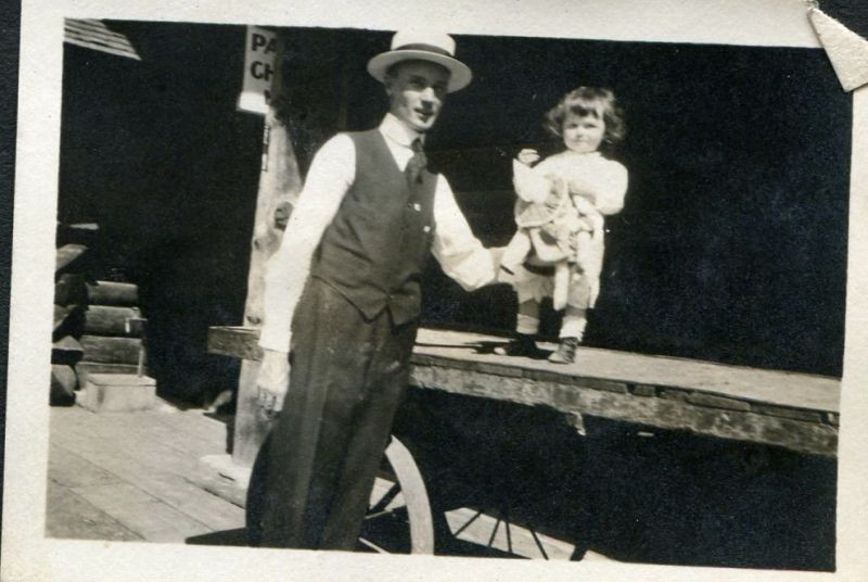 Grandpa Wayland and Auntie Bidge (Where did they get these names from back then?!