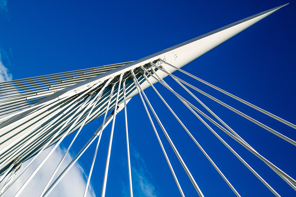 Provencher bridge in Downtown Winnipeg a