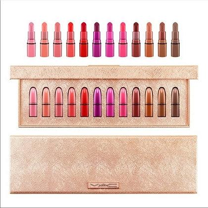 MAC Snow Ball Mini Lipstick Kit x 12 / MAC Classics - 12 Minis