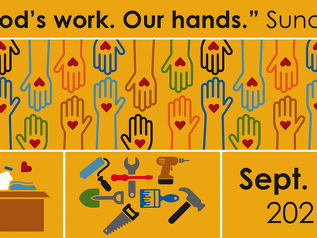 """Sunday, September 12 is """"God's work. Our hands."""" Sunday"""