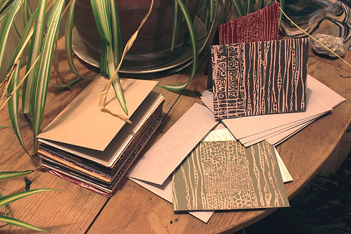 Douglas fir linocut cards