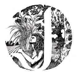 logo for J Bread, Asheville, NC