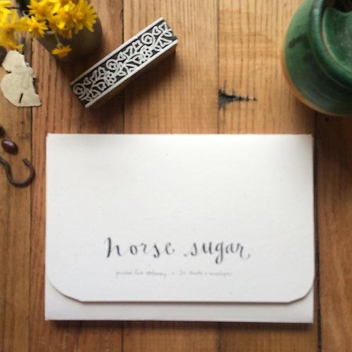 Horse Sugar letter sheets