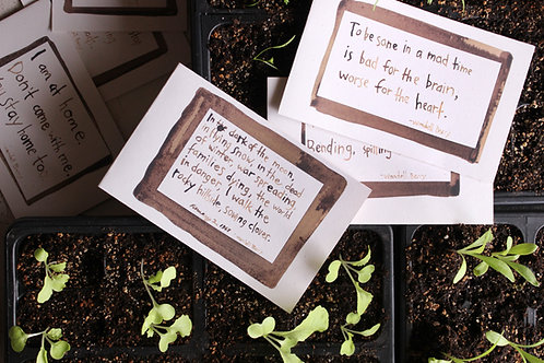 Wendell Berry Notecards (Benefit for The Berry Farming Program)