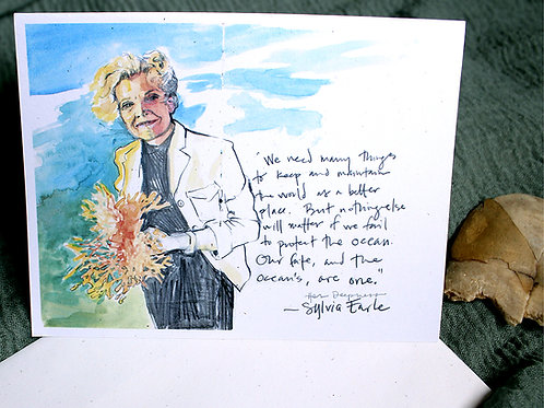 Sylvia Earle notecards (benefit for Mission Blue)