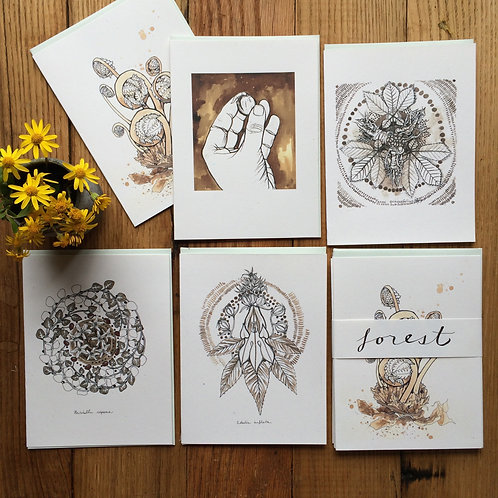 Forest /// greeting card set