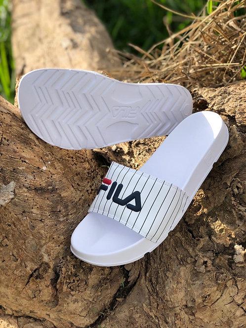 SLIDE FILA WHITE/NAVY