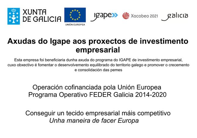 Programa: AXUDAS AOS PROXECTOS DE INVESTIMENTO EMPRESARIAL, COFINANCIADAS POLO FONDO EUROPEO DE DESE